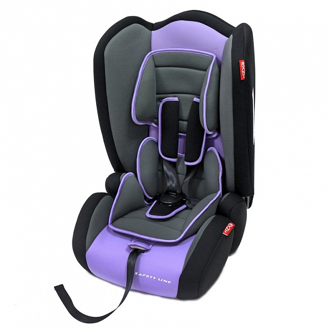Автокресло Rant Safety Line Junior, гр. 1-2-3, 9-36 кг, сиреневый, Purple - фото
