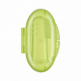 Щетка Happy Baby Silicone Finger Toothbrush в пенале, Lime