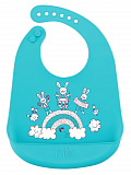 Нагрудник Happy Baby Bib Pocket силиконовый, Blue